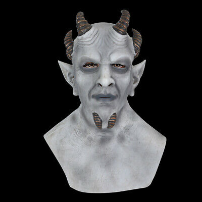 £15.99 • Buy Demon Mask Halloween Full Face Latex Headgear Realistic Party Cosplay Props Grey