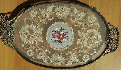 £55 • Buy Vintage Petit Point Dressing Table Tray