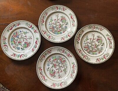 """£8 • Buy Johnson Bros England Indian Tree Plates X 4 Plate Size 9"""""""
