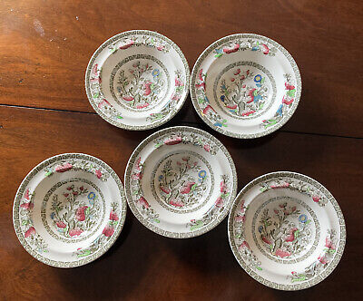 £5 • Buy 5x Vintage Indian Tree Johnson Bros Small Rimmed Bowls 16.5cm
