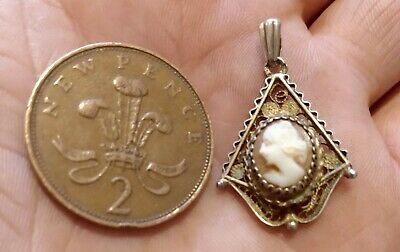 £8 • Buy Vintage Cameo Pendant. Filagree. For Necklace.  Beautiful. Not Plastic.