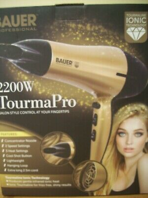 £8 • Buy BAUER 2200W Professional Ionic Hair Dryer Concentrator Nozzle Blower Pro Salon*