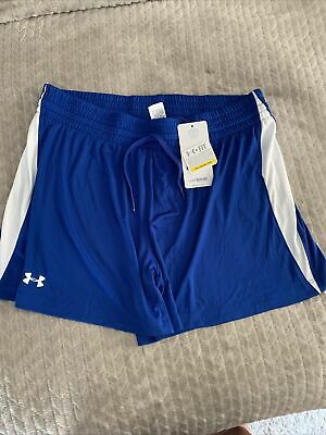 £5.09 • Buy Under Armour Women's Blue Loose Fit UA Team Shorts  Athletic NWT Size Large