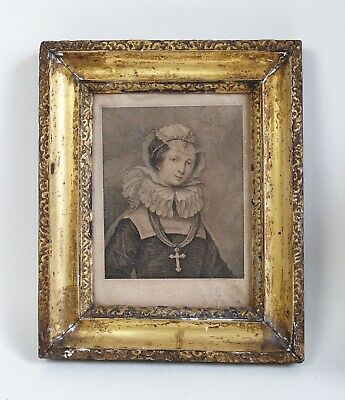 £150 • Buy Fine Antique 18th Century Engraving Of Mary Queen Of Scots