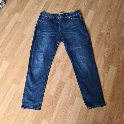 £17 • Buy Next Women's Relaxed Skinny Blue Mid Rise Jeans Size 16 Regular