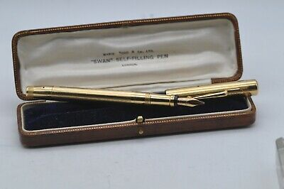 £943 • Buy Lovely Rare Vintage Mabie Todd Swan Leverless 18ct Solid Gold Fountain Pen Boxed
