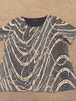 £1.99 • Buy Forever By Michael Gold, Black And Beige Short Sleeve Occasion Top, Size XL