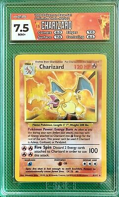 $499.99 • Buy 1999 Pokemon Base Unlimited Holo Charizard 4/102 Hga7.5 Nm+ Rare One Of A Kind