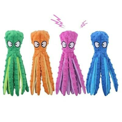 £7.40 • Buy 8 Legs Octopus Soft Stuffed Plush Dog Toys Outdoor Play Interactive Squeaky Dogs