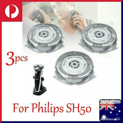 AU17.20 • Buy 3Pcs Shaver Heads Blades Replacement Fit For Philips Series 5000 SH50 SH51 HQ8 Q