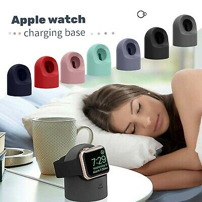 AU13.52 • Buy Silicone Charger Stand Holder Station Dock For Apple Watch Charger Cable Holder