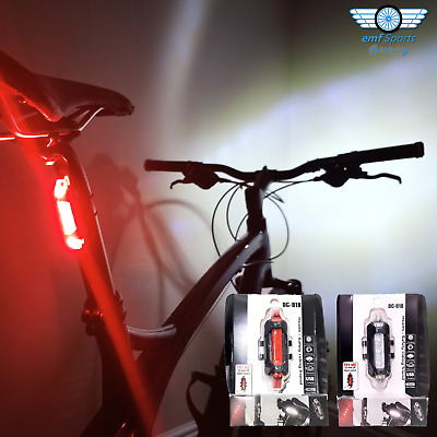 £6.95 • Buy DC918 LED BIKE LIGHTS USB Rechargeable Red Rear White Front Set Road MTB Cycles