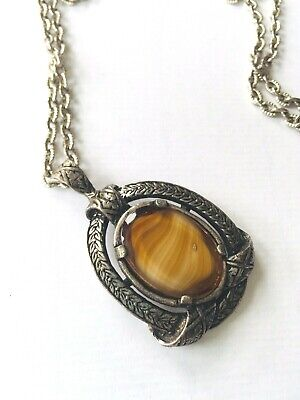 £4.90 • Buy Vintage MIRACLE  Glass Necklace Scottish Jewellery Signed