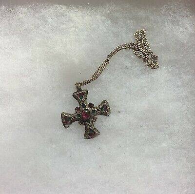 £9.99 • Buy Miracle Celtic Cross Pendant With Silver Chain