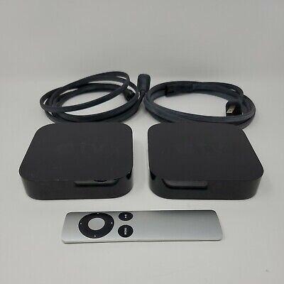 AU52.06 • Buy Lot Of 2 Apple TV Streaming Media Box A1378 A1469 Tested 1 Remote 2nd 3rd Gen