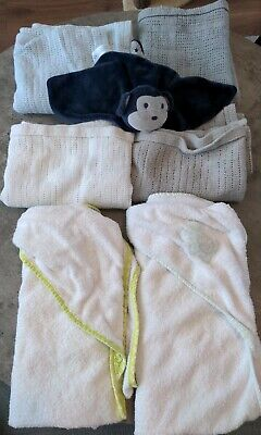 £2.99 • Buy Bundle Baby Boy Blankets And Hooded Towels