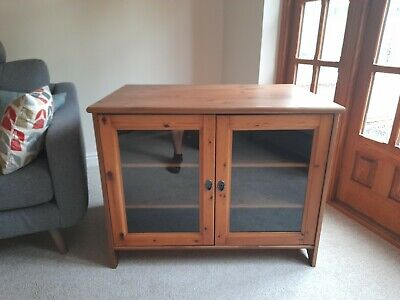 £15 • Buy Wooden Tv Cabinet Used With Glass Doors And Metal Handles