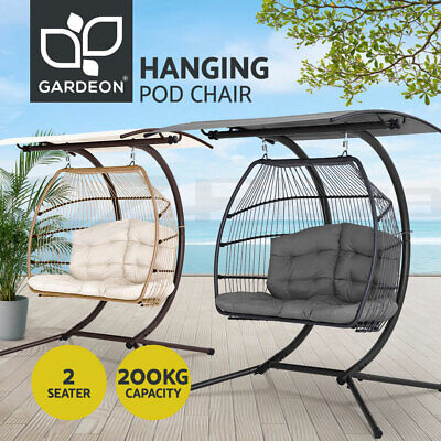 AU579.95 • Buy Gardeon Outdoor Furniture Lounge Hanging Swing Chair Egg Hammock Stand Canopy