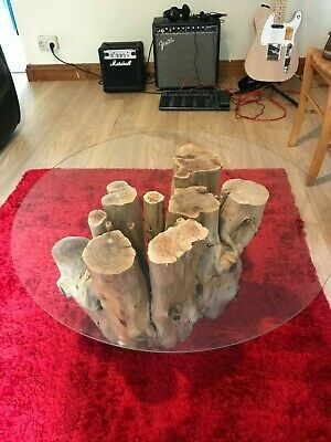 £200 • Buy Yew Tree Trunk Hand Made Coffee Table 17inchs High 28inchs Wide