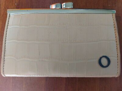 AU30 • Buy Oroton Slim Leather Frame Nude Cream Coin Wallet Purse Clasp With Box