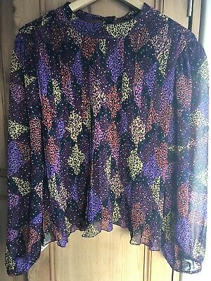 £3.50 • Buy Ladies Size 14 River Island Leopard Print Pleated Blouse
