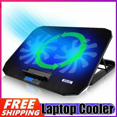 AU35.89 • Buy 12-17  Laptop Cooler Pad Dual Cooling Fan 6 Speed Notebook Stand + 2 USB Ports