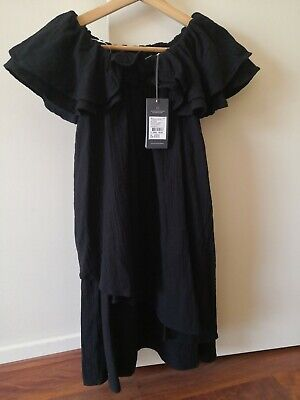 AU29.95 • Buy *Brand New* Country Road Ruffle Dress- Black, Size 4. RRP $139