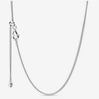 AU19.98 • Buy PANDORA 925 Silver Chain Necklace Basic Naked Chain 60Cm Adjustable W/ GIFT Bag