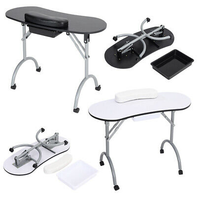 £59.95 • Buy Folding Portable Manicure Nail Table Mobile Technician Work Desk With Carry Bag