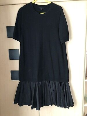 AU22.55 • Buy COS Black Mock Layered Knitted  Short Sleeve Dress Size M.  Good Condition