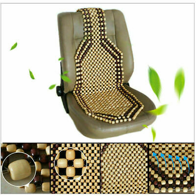 £12.95 • Buy Wooden Bead Car/van/taxi Front Seat Cover Cushion - Classic Beaded Design