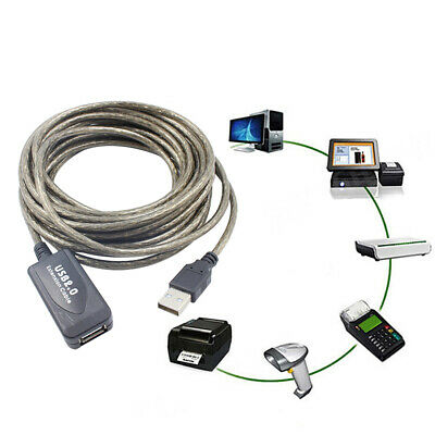 AU21.82 • Buy USB 2.0 Active Extension Repeater Cable Signal Booster Extended Cord 5/10/15/20m
