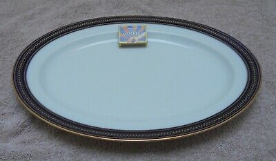 £12.99 • Buy Noritake - P564 - Large Oval Platter - White With Blue & Gold - 41 Cm - New -