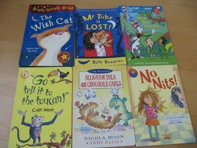 £4.50 • Buy Bundle Learning To Read 6 Children's Books Early Readers Blue Bananas Dr Seuss