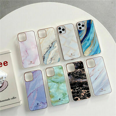 AU12.29 • Buy Case For IPhone 12 13 Pro Max 7 8 Plus ShockProof Marble Phone Cover Hard Back