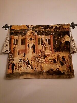 £25 • Buy Designers Guild Velvet Royal Collection Wall Hanging On Metal Rail.