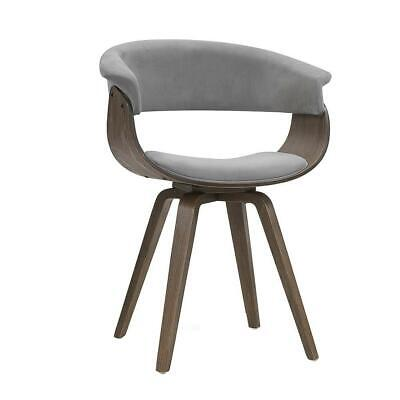 AU93.96 • Buy Artiss Dining Chairs Bentwood Chair Kitchen Velvet Fabric Timber Wood Retro Grey