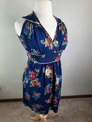 AU49.41 • Buy Vintage Floral EXPECTED Lilac Clothing Dress Women's Large 14/16 D3S Maternity