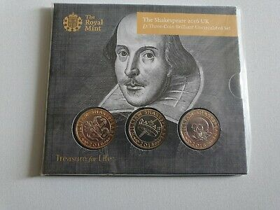 £1.99 • Buy The Shakespeare 2016 Uk £2 Three Coin Set Uncirculated