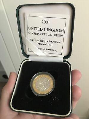 £35 • Buy Royal Mint Silver Proof  £2 Two Pound Coin 2001 Marconi Wireless