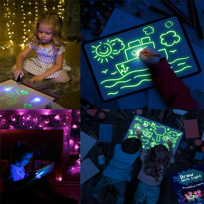 AU7.99 • Buy Draw With Light Drawing Board Fun Developing Toy Kids Educational Magic Painting