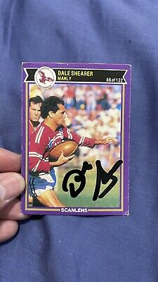 AU50 • Buy Signed Dale Shearer Manly Sea Eagles Premiers 1987 Scanlens Rugby League Card