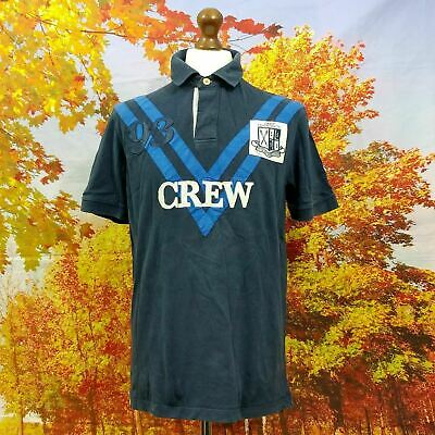 AU39.63 • Buy Crew Clothing Co Blue Spell Out Logo 100% Cotton Polo Shirt. UK Men's Size Large