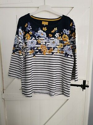 £3.99 • Buy Joules Striped And Floral Top Size 18
