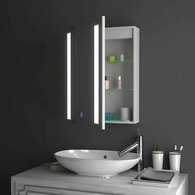 £128.99 • Buy LED Bathroom Mirror Cabinet With Touch Sensor Switch Demister And Shaver Socket