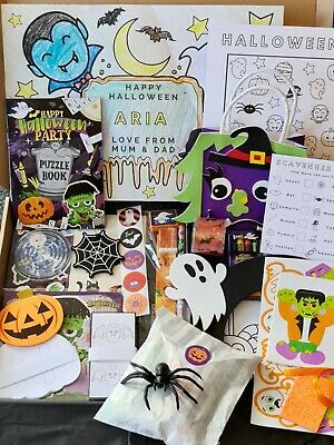 £20 • Buy Personalised Kids Halloween Activity Box - Arts And Craft Puzzles, Games, Sweets