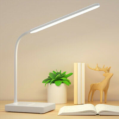 AU19.98 • Buy LED Dimmable Reading Desk Lamp Flexible Touch Study Table Bedside Study Light