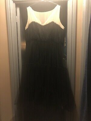 AU37.64 • Buy Ladied ASOS CURVE Tulle Prom Style Dress Black Nude Size 20 Races Wedding Party