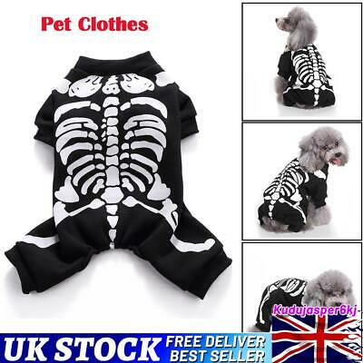 £6.89 • Buy Pet Dog Halloween Horror Skeleton Clothes Dress Funny Costume Clothing Outfit