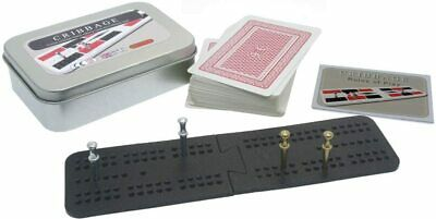 £10.99 • Buy Brimtoy Travel / Pocket Cribbage Board In Tin With Playing Cards And Pegs